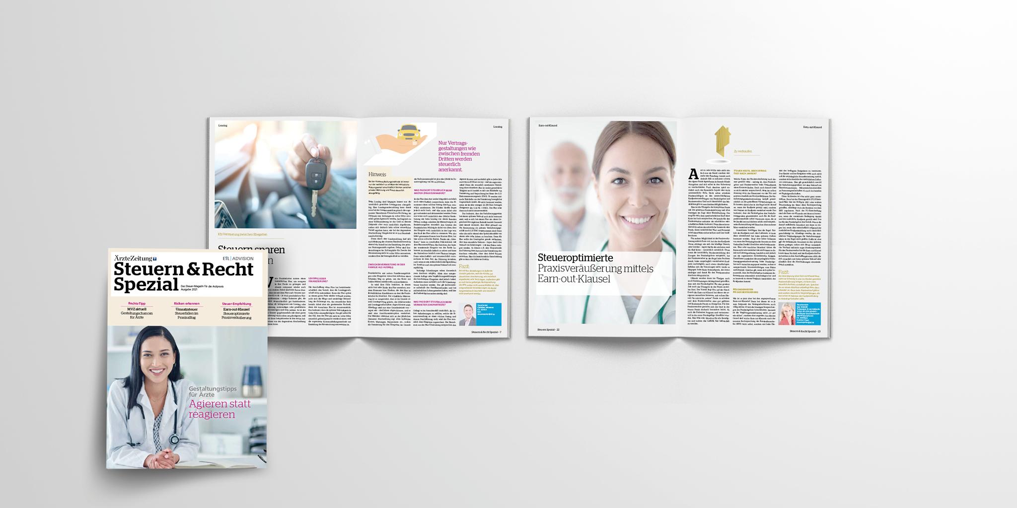 Ärzte, Ratgeber Recht, Ratgeber Steuern, Recht, Steuern: Steuern & Recht Spezial: Ein Sonderheft von ETL ADVISION in Kooperation mit der Ärzte Zeitung