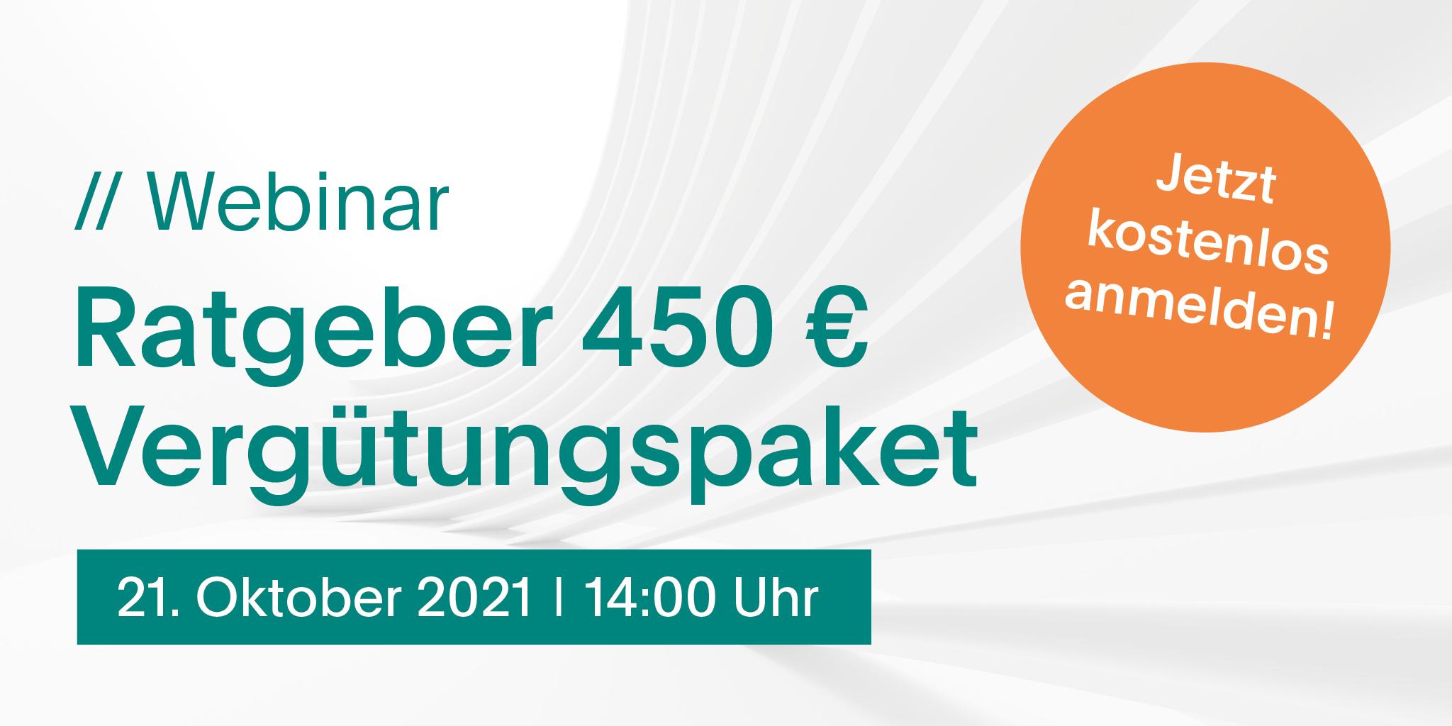 Franchise, Ratgeber Steuern, Webinar: Webinar: Ratgeber 450 € Vergütungspaket